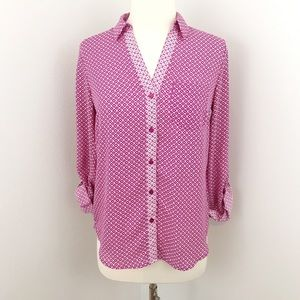 The Limited Button Down Pink Blouse